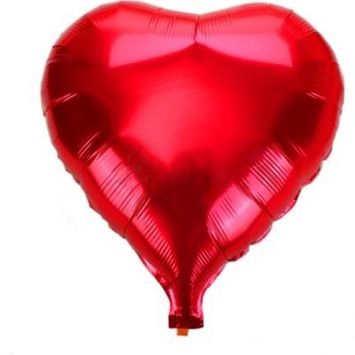 Kırmızı Renk Uçan Kalp Folyo Balon - 50 CM